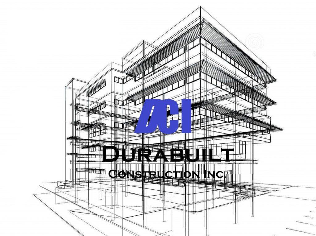 CAD sketch of building